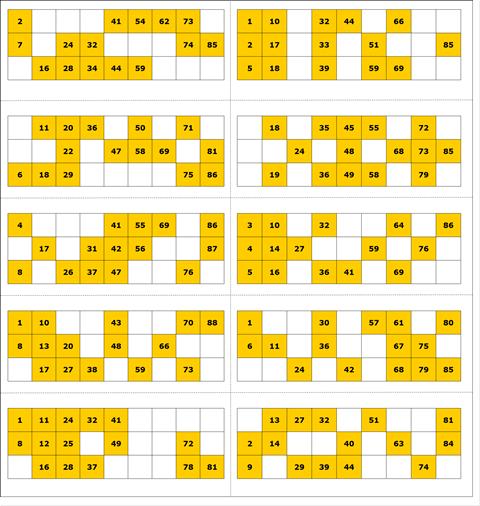 Free Printable Bingo Card 4 - 90 Ball Bingo | Ladies Kitty