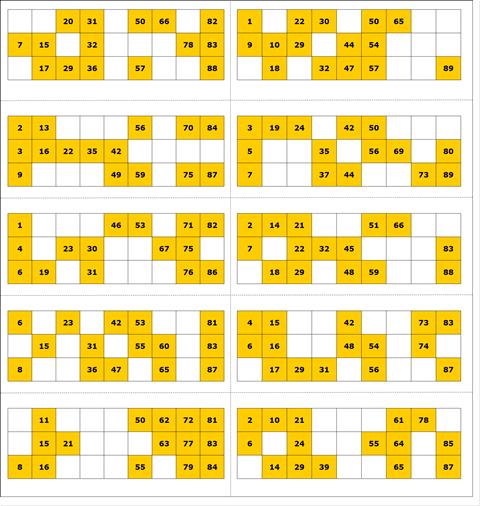 Free Printable Bingo Card 6 - 90 Ball Bingo | Ladies Kitty