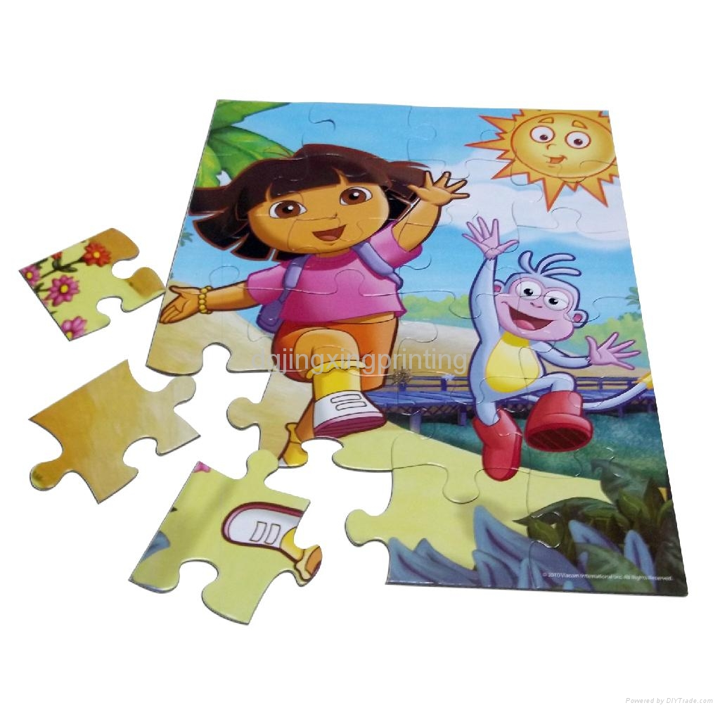 Jigsaw puzzle race kids party game ladies kitty