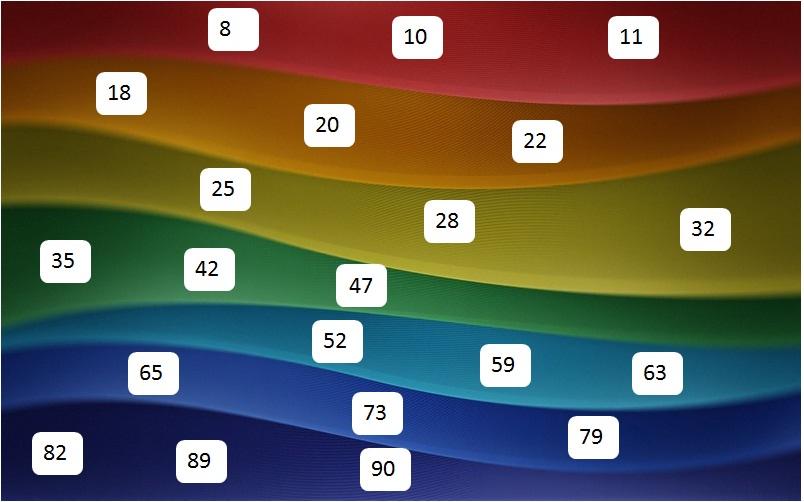 rainbow tambola game