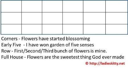 flowers bingo game