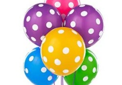 Polka Dot Balloon - 30 Pc