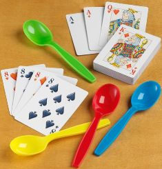 spoon and cards