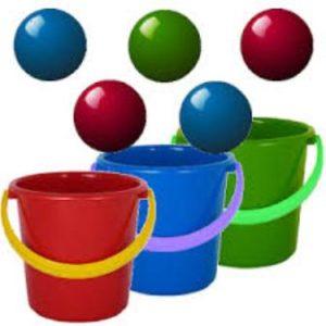 bucket and ball