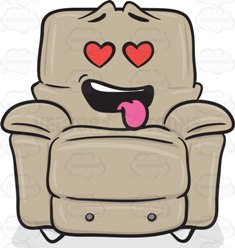 Love Struck Stuffed Chair Emoji